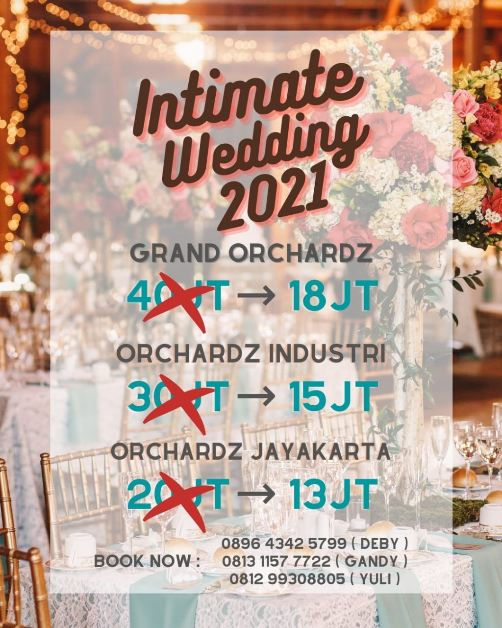 Orchardz Hotel Group Jakarta Intimate Wedding Package Mnctrijaya Com